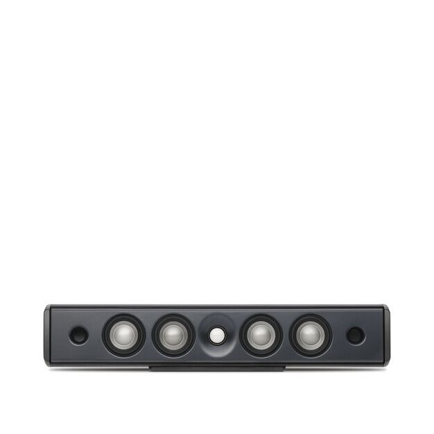 C10 - Black - Concerta Series, 2½-Way Center Channel On-Wall Loudspeaker - Hero
