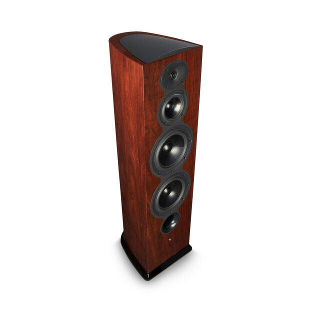 F208 - Walnut - 3-Way Floorstanding Tower Loudspeaker - Hero