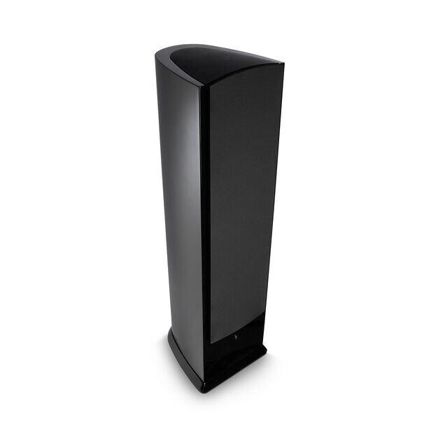 F208 - Black - 3-Way Floorstanding Tower Loudspeaker - Hero