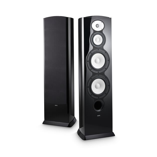 "F228Be - Black - 3-way Dual 8"" Floorstanding Loudspeaker - Hero"