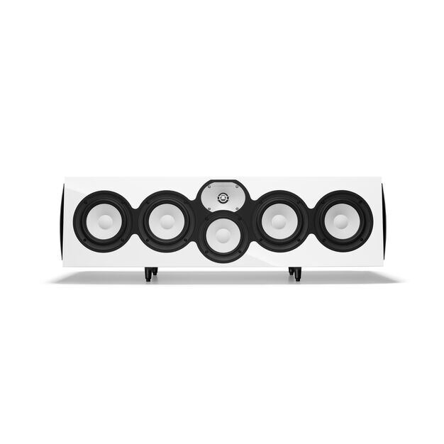 """C426Be - White Gloss - 3-Way Quadruple 6.5"""" Center Channel Loudspeaker - Hero"""
