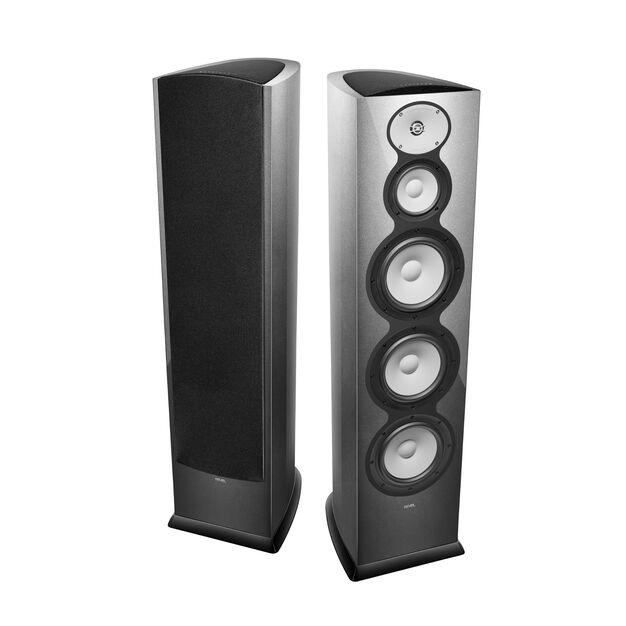"""F328Be - Silver - 3-Way Triple 8"""" Floorstanding Loudspeaker - Hero"""