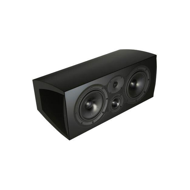 C208 - Black - 3-way Center Channel Loudspeaker - Hero