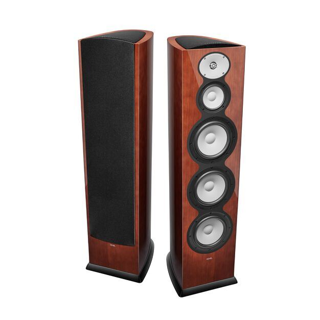 "F328Be - Walnut - 3-Way Triple 8"" Floorstanding Loudspeaker - Hero"