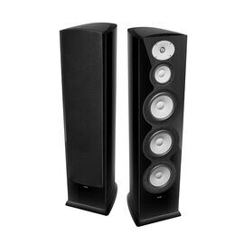 "F328Be - Black Gloss - 3-Way Triple 8"" Floorstanding Loudspeaker - Hero"