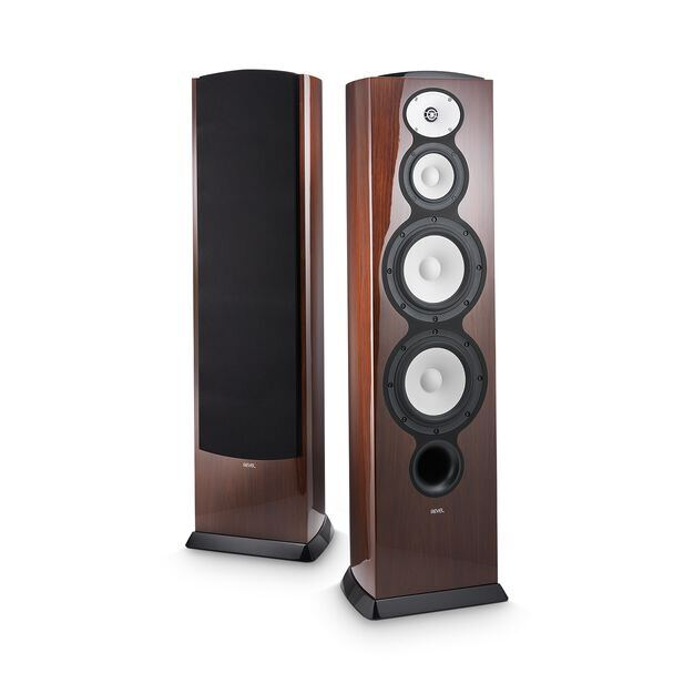"F228Be - Walnut - 3-way Dual 8"" Floorstanding Loudspeaker - Hero"
