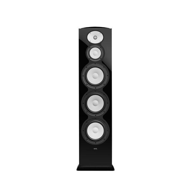 """F328Be - Black Gloss - 3-Way Triple 8"""" Floorstanding Loudspeaker - Hero"""