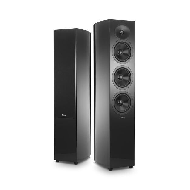 "F35 - Black - 2 1/2-way Triple 5.25"" Floorstanding Loudspeaker - Hero"
