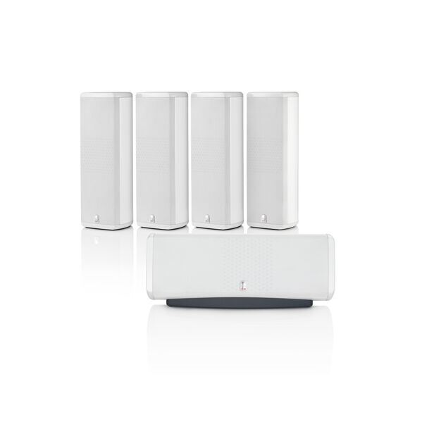 M8 SP5 - White Gloss - 5-channel Home Theater Sound Support System - Hero